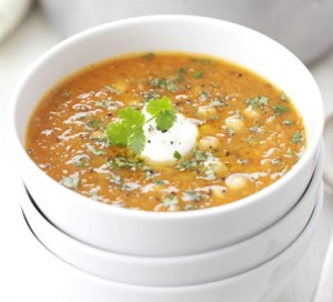 Lentil and chick pea soup