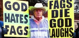 Anti-gay protestor