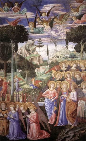 Gozzoli, Angels Worshipping