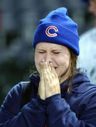 Chicago Cubs fan crying