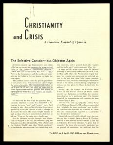 Christianity and Crisis