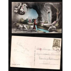 Lourdes postcard