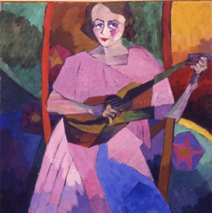 lentulov_woman_guitar